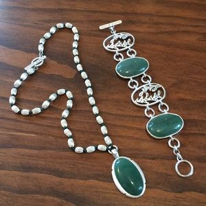 Sigrid Olsen jade necklace & bracelet